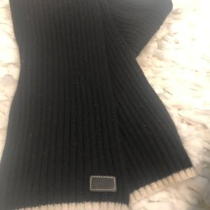 Coach Black Wool Scarf